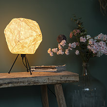 Lampe de table scandinave en papier blanc - Pepa