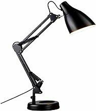 Lampe De Table Swing Arm LED Lampe de bureau fer