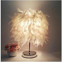 Lampe de table Table de chevet Lampe LED Plume