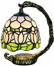 Lampe de Table Tokira Mini Tiffany Fleur de Tulipe