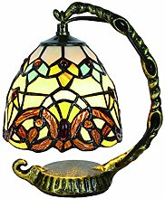 Lampe de Table Tokira Tiffany de Style Baroque,