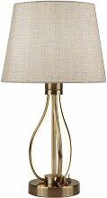 Lampe de table Vegas Led, laiton antique plaqué