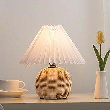 lampe de table Vintage plissé lampe de table en
