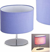 Lampe de table Wien en métal/textile en