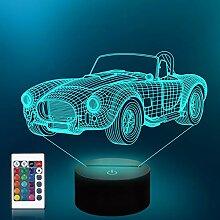 Lampe de voiture Veilleuse 3D pour enfants avec