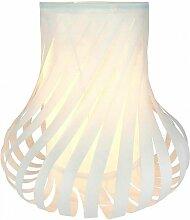 Lampe déco en papier FUSE Blanc - Blanc