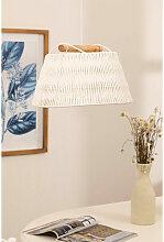 Lampe Druk Papier Tressé - Blanc - Sklum