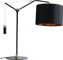 Lampe en acier noir