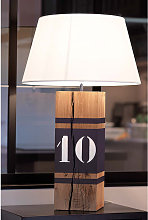 Lampe en bois haute gris fonte