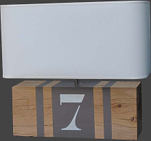 Lampe en bois L34 bandes taupe