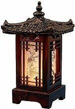 Lampe en bois sculpté à la main traditionnelle