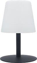 Lampe en métal gris