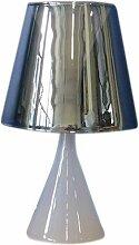 Lampe en verre Dario abat-jour Smoky Fumé