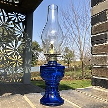 Lampe En Verre De Kérosène 32Cm, Lampe À Huile
