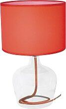 Lampe en verre rouge