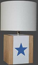 Lampe enfant blanche et étoile bleue