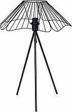 Lampe Filaire En Métal Hibiscus Noir - Ostaria