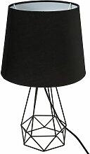 Lampe filaire Moca noir H35 biseautée - Noir