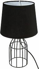 Lampe filaire Moca noir H35 droite - Noir