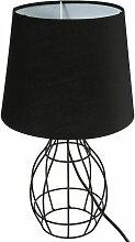 Lampe filaire Moca noir H35 ovale - Noir