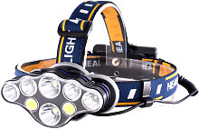 Lampe Frontale Rechargeable Usb, 8 Leds 8 Modes,