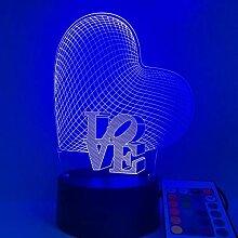 Lampe Illusion 3D Led Motif Veilleuse Mettre En