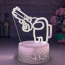 Lampe illusion 3D parmi Us - Lampe 3D avec 16