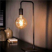 Lampe industrielle en métal gris AVERY