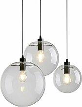 Lampe industrielle globe de verre Transparent/noir