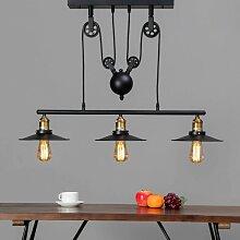 Lampe industrielle suspension - Triple Piattino -