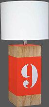 Lampe L34 orange en bois