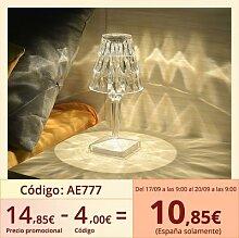 Lampe LED de Projection en cristal diamant, charge