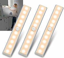 Lampe LED Detecteur Mouvement Interieur - 3 Paquet