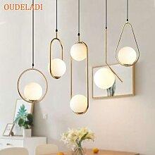 Lampe LED moderne suspendue en forme de boule de