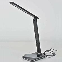 Lampe LED prise USB noir effet cuir