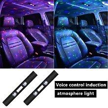 Lampe LED RGB sans fil pour toit de voiture,
