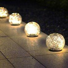 Lampe Led solaire en forme de boule de verre