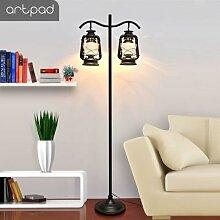 Lampe LED sur pied Vintage avec interrupteur au