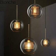 Lampe Led suspendue industrielle en forme de boule