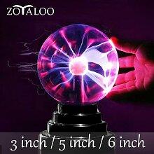 Lampe LED tactile boule de verre plasma