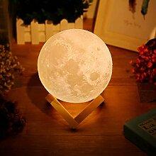 Lampe Lune 3D de Chevet avec Capteur, Couleur