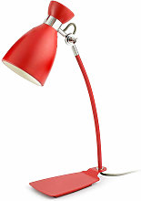 Lampe métal rouge Faro