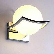 Lampe moderne murale en forme de boule, applique
