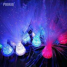 Lampe multicolore en fibre optique avec Base de