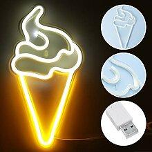 Lampe murale à LED en forme de glace - Effet
