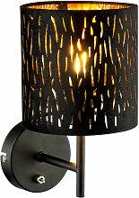 Lampe murale design lampe abat-jour en velours