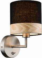 Lampe murale en bois design Chambre à coucher