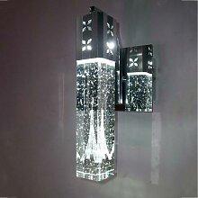 Lampe murale en cristal blanc chaud, colonne de