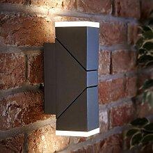 Lampe Murale LED Haut-Bas d'Extérieur Moderne