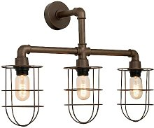 Lampe Murale Metal Applique - Marron Fonce en